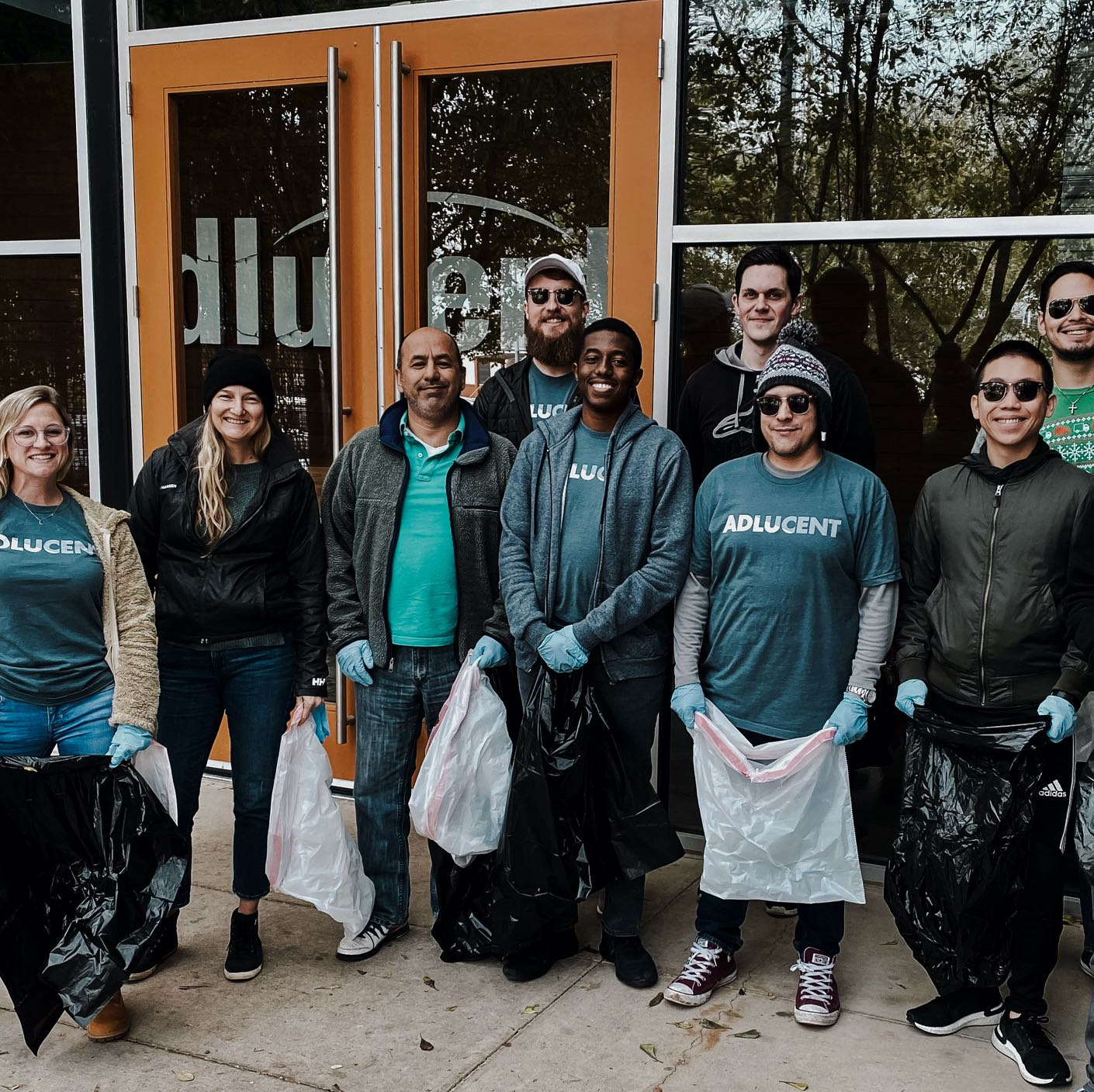 Adlucent team working in community